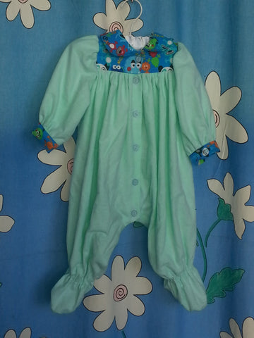 144 - LITTLE MONSTER FLANNEL GROSUIT - Fits size 000 to 0