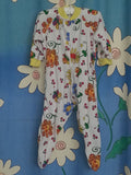 153 - BLOOMING BABY SLEEPSUIT - LEMON - Size 0