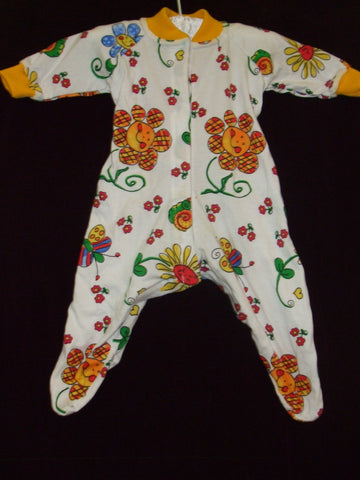 54 - BLOOMING BABY SLEEPSUIT - Yellow - Size 000