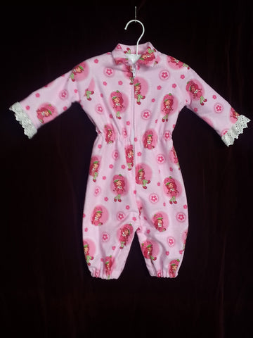 89 - STRAWBERRY SHORTCAKE JUMPSUIT - flannel - Size 000