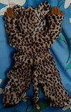 255 - BROWN LEOPARD SUIT - Sz 000 (complete with ears & tail)