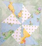 206 - ' THE POND ' QUILT - Size 144.5cmW x 168cmL
