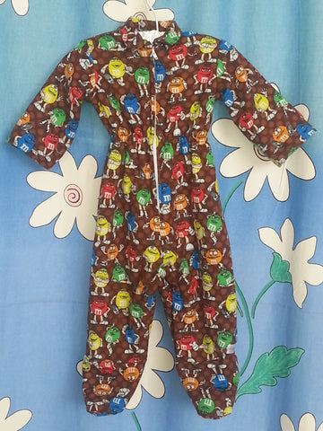 156 - M&M JUMPSUIT - Flannel Lined Flannel - Size 00