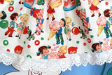 231 - 2 pce 'YE OLD CANDY SHOPPE' APRON DRESS & BODYSUIT - Size 00