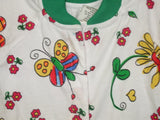70 - BLOOMING BABY SLEEPSUIT - GREEN - Size 00