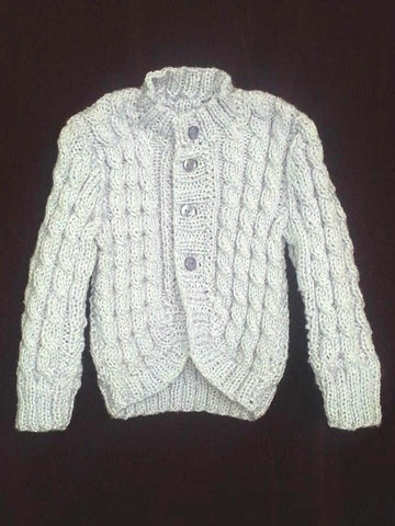 Granny Aggies Lilac Cable-Knit CARDIGAN size 00