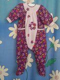 FLANNEL FLORAL CUTESUIT - Purple - Size 0