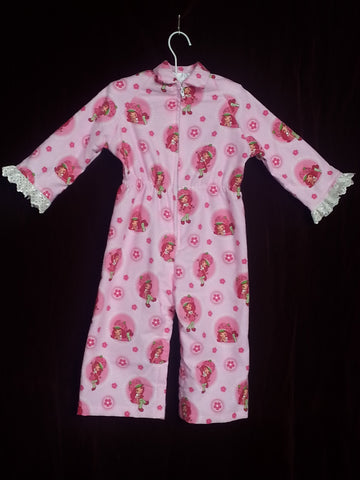88 - STRAWBERRY SHORTCAKE JUMPSUIT - flannel - Size 1
