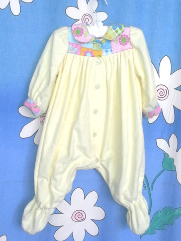 HBW FLOWERPATCH GROSUIT - Flannel - Fits size 000 to 0