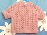306 - Granny Aggies LACE KNIT TOP - DUSKY PINK - Size 0
