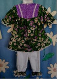 247 - GREEN DAISY 2pc TOP & PANT - Sz 0
