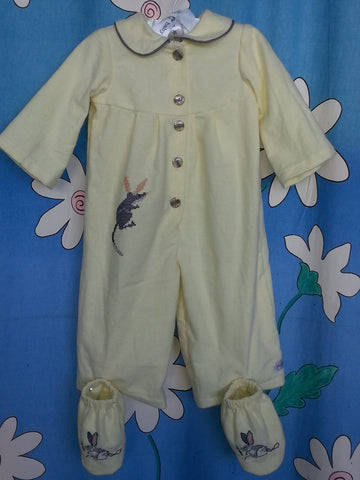 168 - 'MY LITTLE BILBY' FLANNEL SUIT & BOOTIES - Size 0