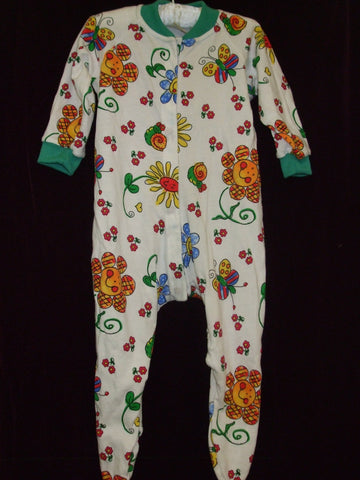 43 - BLOOMING BABY Sleepsuit - Green - Size 0