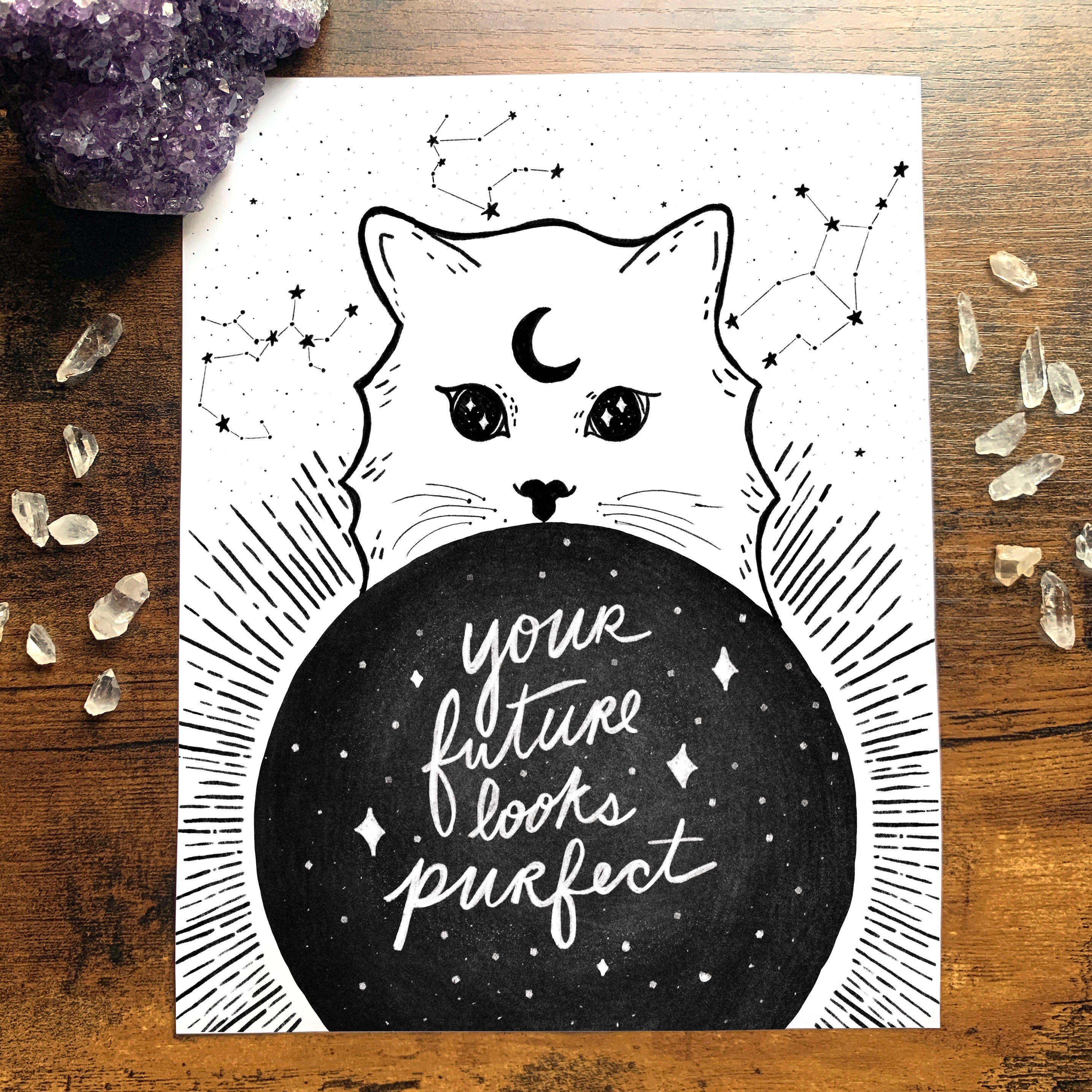 "Purfect Future Kitty Art Print 8""x10"""