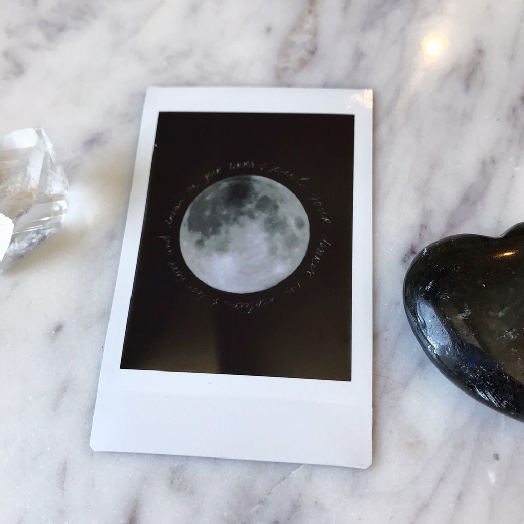 Full Moon in Libra - Instax Mini Print