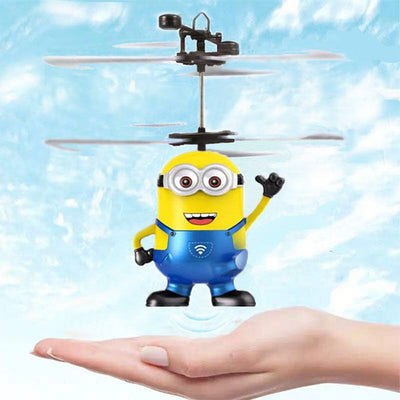 Minions Despicable Me Infrared Induction Flying Sensor Control Helicopter Light Airplane Toy