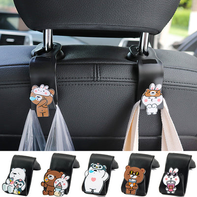 Car Headrest Hook, Vehicle Universal Car Back Seat Headrest Hanger Holder Hook for Bag Purse Cloth