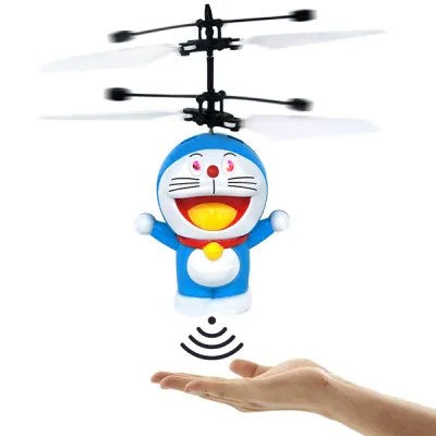 Cartoon Cat Hand Induction Flying Suspension Aircraft Toy