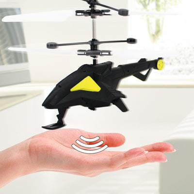 Mini New Style Helicopter LED Light Fly Flashing Helicopter Hand Control Toys Gift