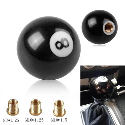 8 Billiard Ball Car Gear Shift Knob Universal Shifter Lever Cover for Manual Transmission