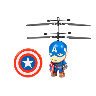 Marvel 3.5 Inch Captain America Iron Man Flying Figure Helicopter Flying Toys