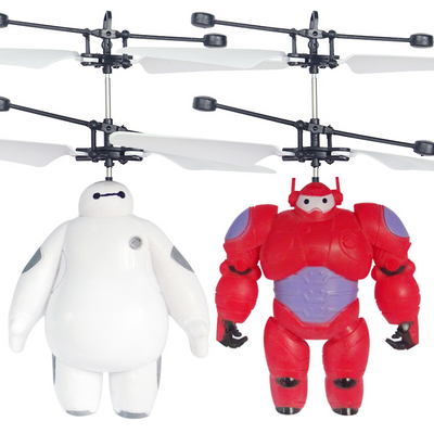 The Super Flying Baymax White Red Induction Aircraft Flying Toys