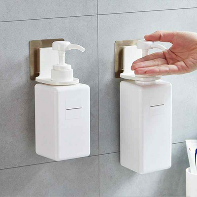 Wall Mounted Magic Sticky Shampoo Hook Shower Hand Soap Bottle Hanging Holder