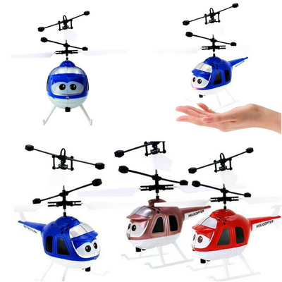 Infrared Induction Plane Aircraft Flying Toys LED Flashing Light Mini Helicopter Toy Floating Flight