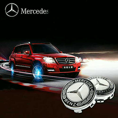 4Pcs Waterproof LED Light Wheel Hub Center Caps Cover (benz)