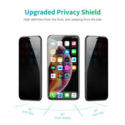 For iPhone Xs Max XR XS Anti-Spy Peeping Tempered Glass Screen Protector Film