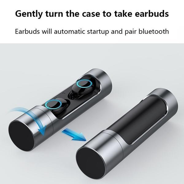True Wireless Earbuds for Android & iPhone, iPad,it's Auto Pairing  Bluetooth 5 0 Earphones,3D Stereo Sound,28 Hour Playtime, Earbud with  Built-in Mic