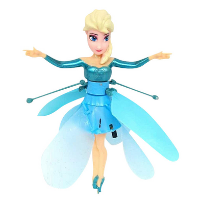Princess Flying Elsa Fairy Magical Princess Girls Doll Gift Interactive Toy