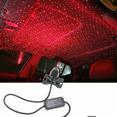 Car Star Lights Ceiling Decorative Atmosphere Lights Festival Romantic USB Projection Lamp Gradient Flash Voice Control