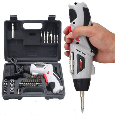 Electric Screwdriver Cordless, 45 in 1 Screwdriver Rechargeable Electric Screw Drill Repair Tools Set