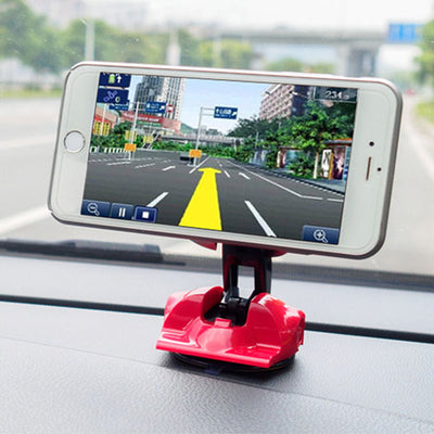 Mobile Phone Car Bracket, Magnetic Creative Sports Car Model Instrument Panel Suction Cup Bracket Folding Type Rotatable