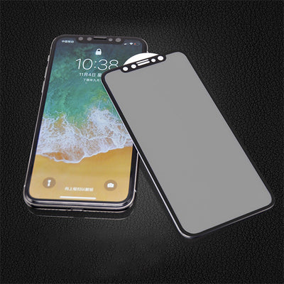 Screen Privacy Protective Film for iPhone X/XS/XR/XS MAX/7 plus Peep-Proof Steel Glass Protection Film, Edge to Edge 3D Surface Full Cover Screen Protector (Black)