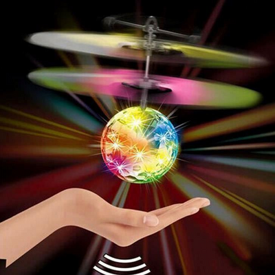 Flying LED Ball Drone Toy Gadget Fun Kids Mini Helicopter Gift