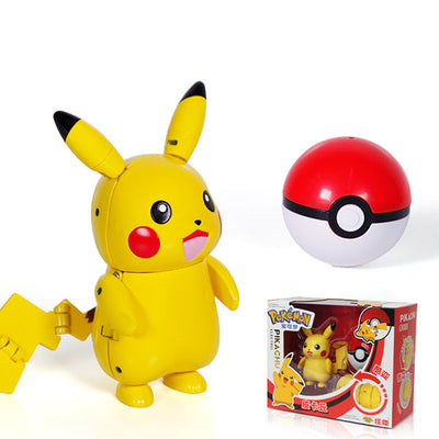 Pokemon Poke Ball Transformation Action Ball Pet Elf  Capsule Doll Game