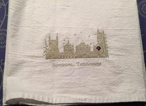 Sewanee Quad with Rose Window, Flour Sack Towel