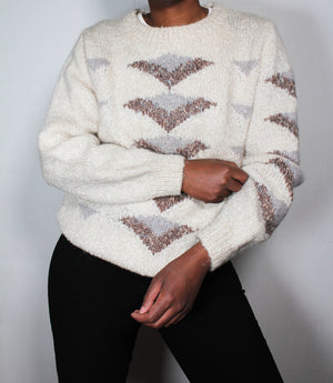 Vintage white knit jumper