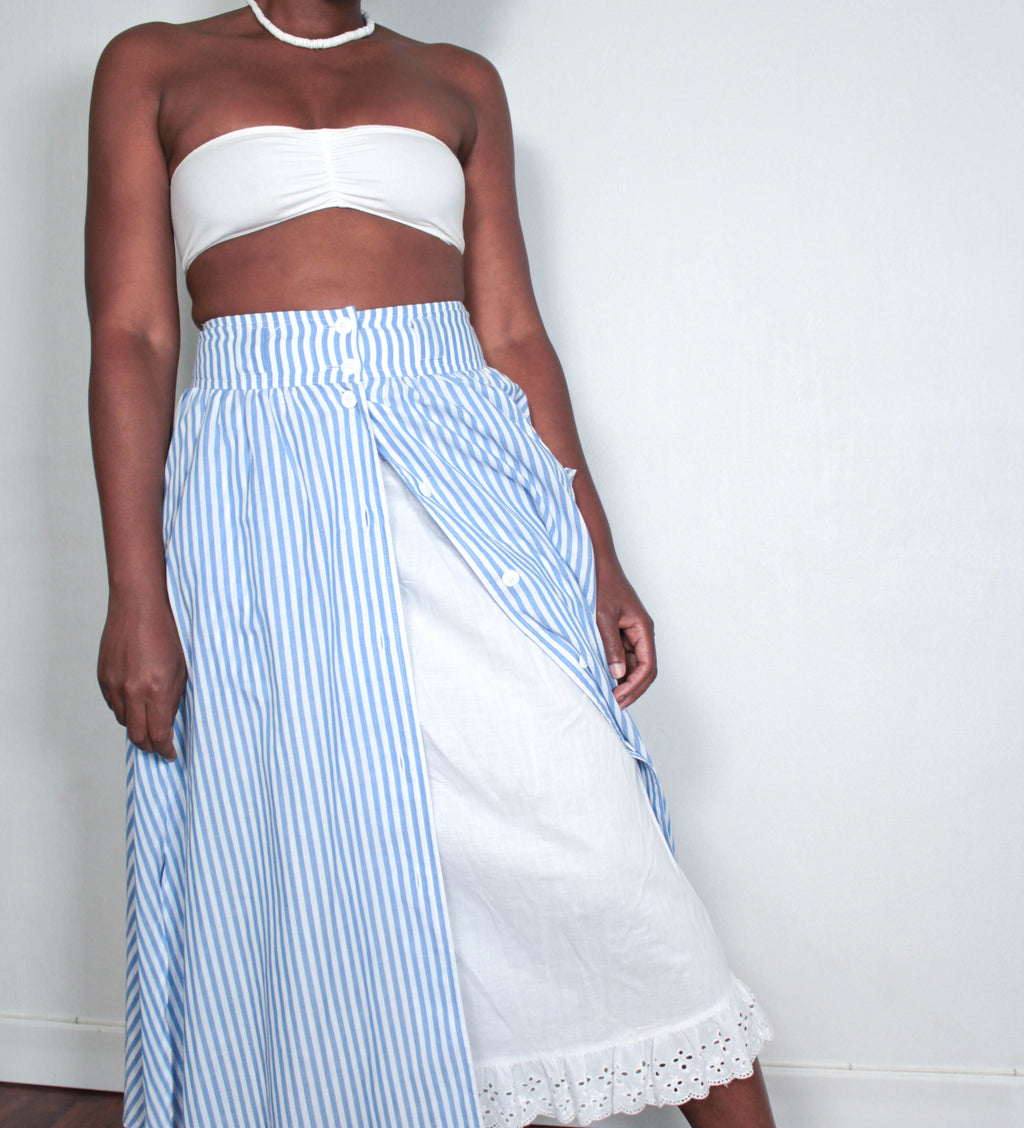 Long stripped skirt