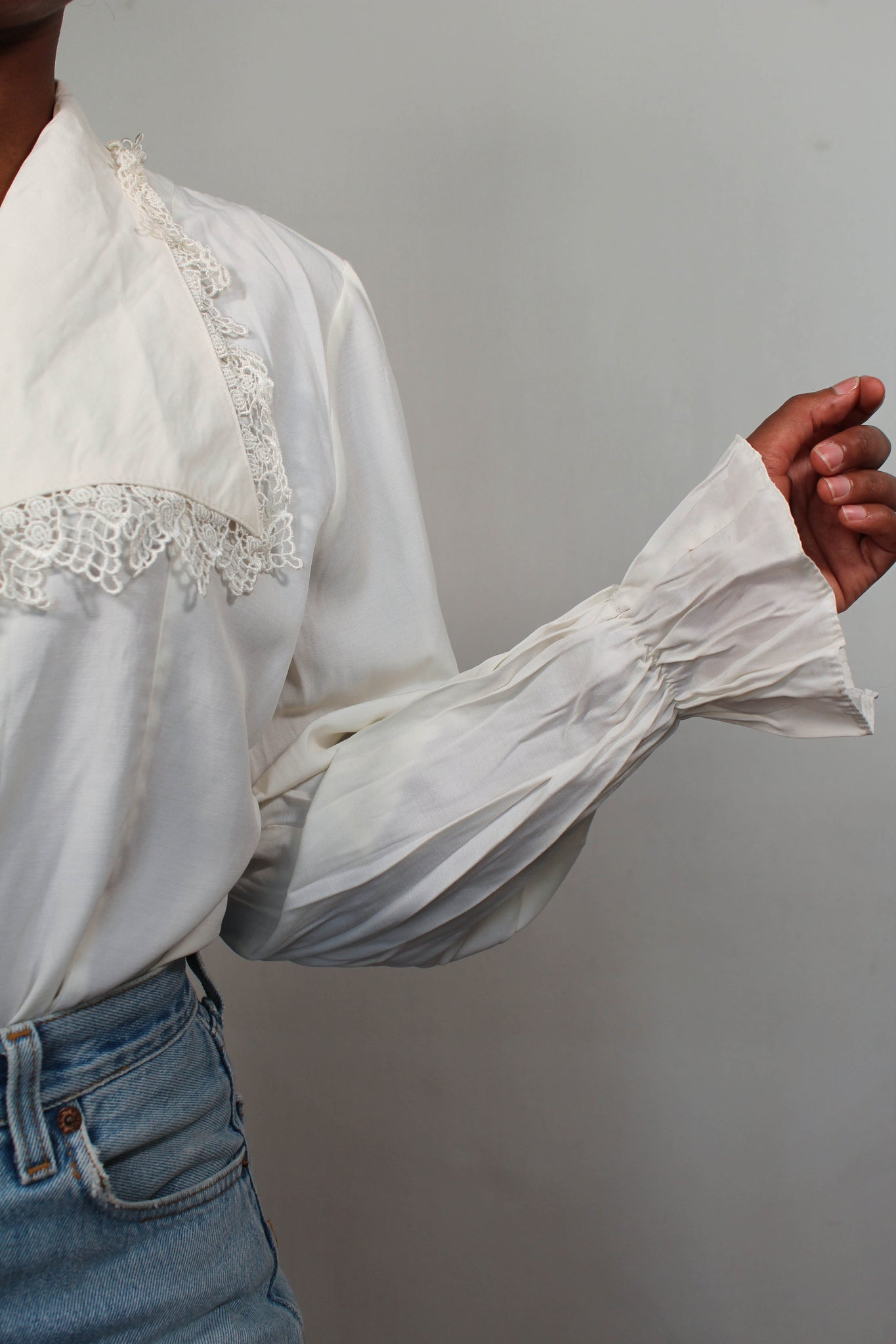 Vintage off-white blouse