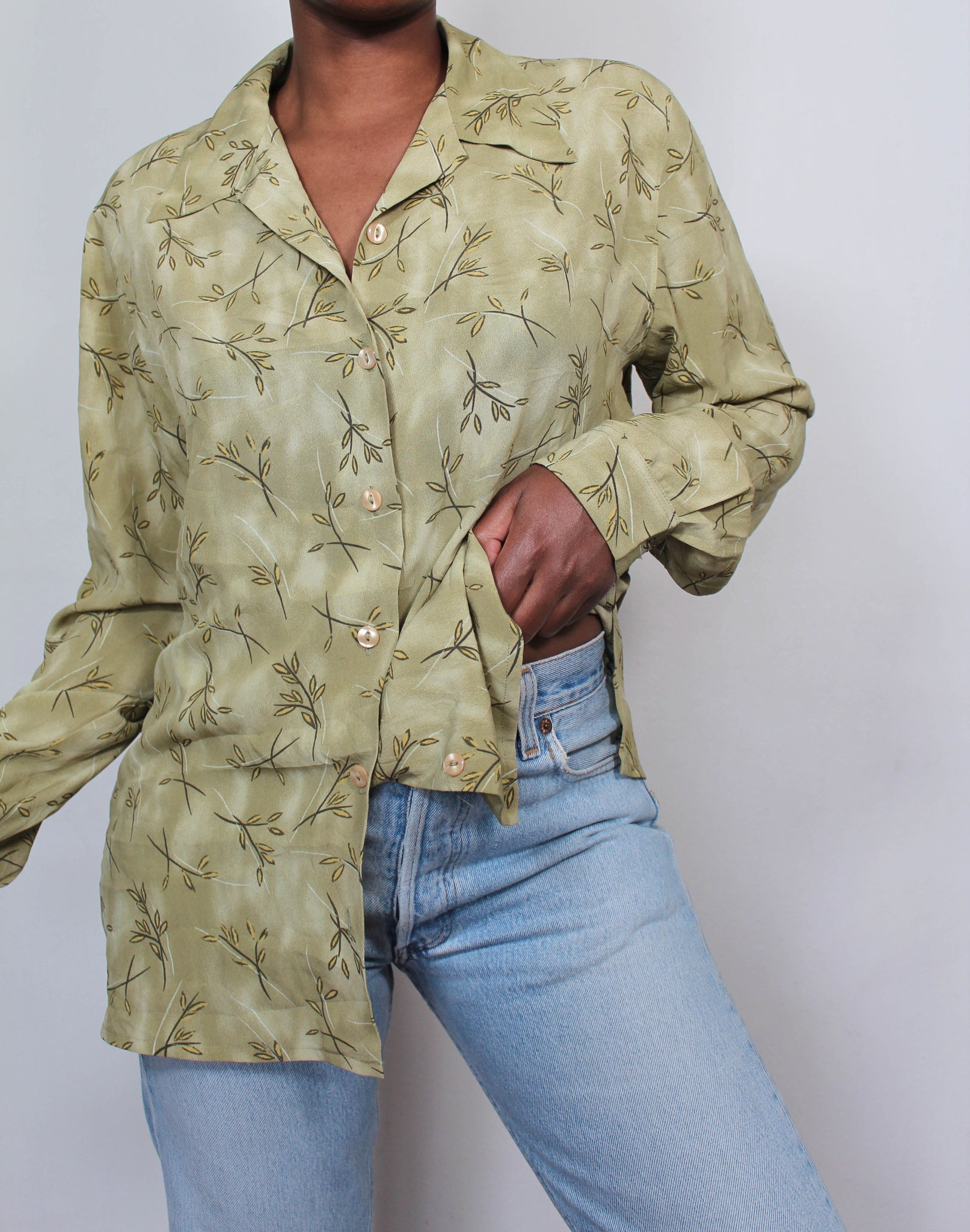 Vintage green blouse