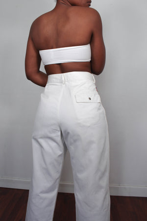 Vintage white chino pants