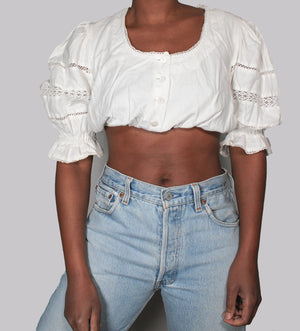 Vintage Austrian crop top
