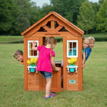 Wooden Kids Playhouse Children Toddler Indoor Outdoor Toy Playhouse