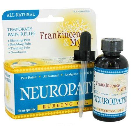 Frankincense And Myrrh Neuropathy Pain Relief Homeopathic Rubbing Oil, 2 Oz, 2 Pack