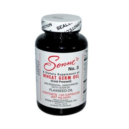 Sonne's No. 3 Wheat Germ Oil 627mg, Capsules, 120 caps