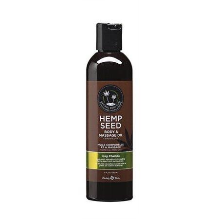 Earthly Body Hemp Seed Massage & Body Oil Nag Champa 8 oz.