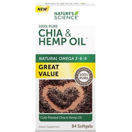 Nature's Science Chia Seed & Hemp Oil Softgels, 84 Ct